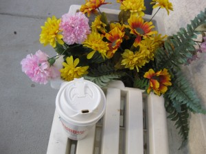 Still Life with Coffee and Flowers